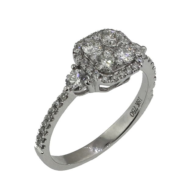 Diamond Engagement Ring-Cluster Image 2 Darrah Cooper, Inc. Lake Placid, NY