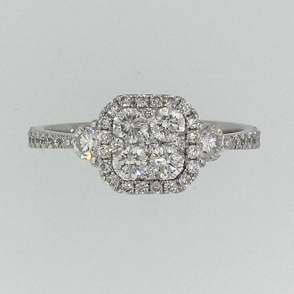 Diamond Engagement Ring-Cluster Image 3 Darrah Cooper, Inc. Lake Placid, NY