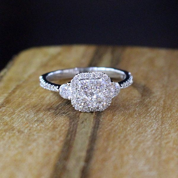 Diamond Engagement Ring-Cluster Image 4 Darrah Cooper, Inc. Lake Placid, NY