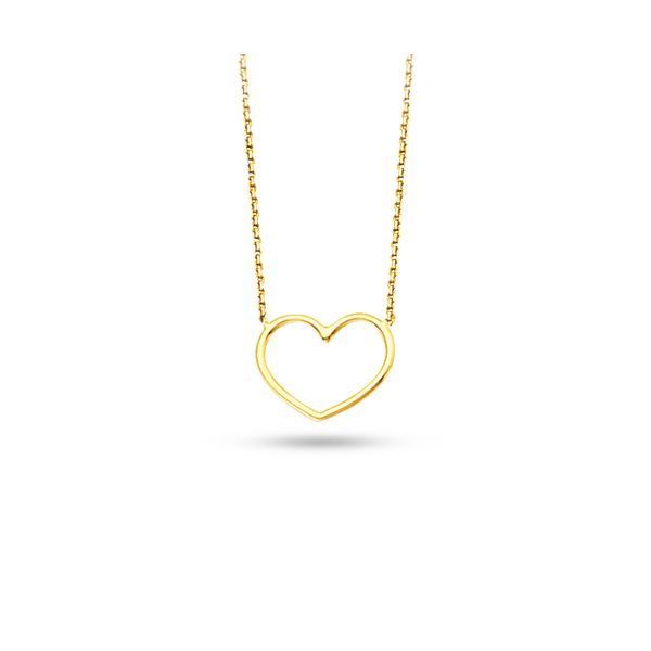 Yellow Gold Heart Necklace Darrah Cooper, Inc. Lake Placid, NY