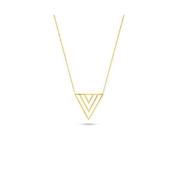Yellow Gold Triple V Necklace Darrah Cooper, Inc. Lake Placid, NY