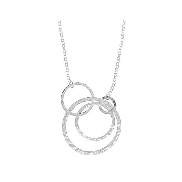 Four Hammered Circles Necklace Darrah Cooper, Inc. Lake Placid, NY