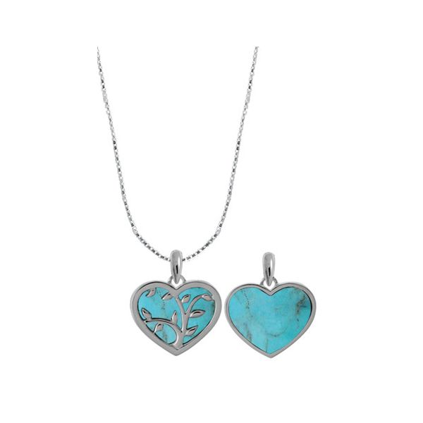 Turquoise Vine Heart Necklace Darrah Cooper, Inc. Lake Placid, NY