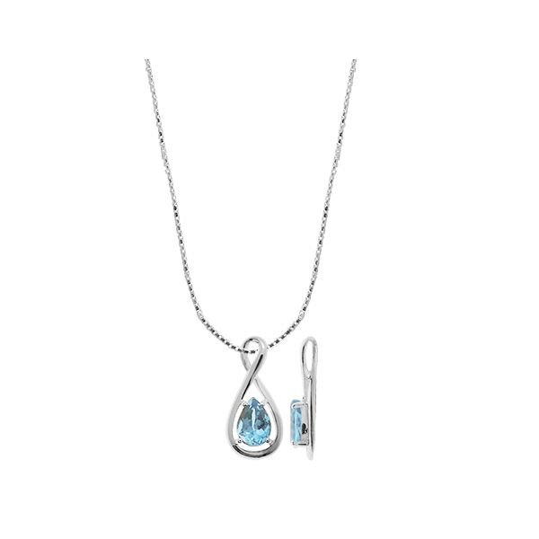 Pear Shaped Blue Topaz Necklace Darrah Cooper, Inc. Lake Placid, NY