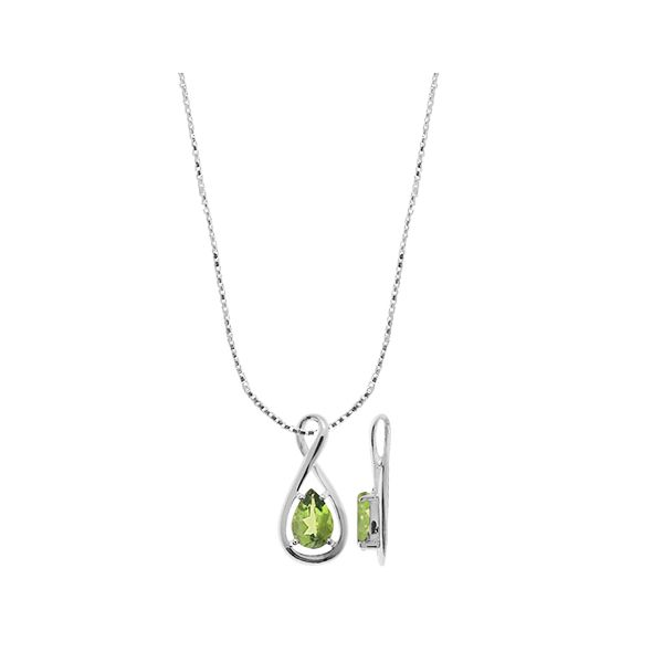 Pear Shaped Peridot Necklace Darrah Cooper, Inc. Lake Placid, NY