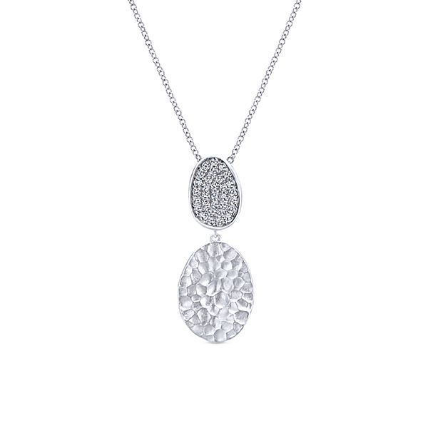 Hammered White Sapphire Necklace Darrah Cooper, Inc. Lake Placid, NY