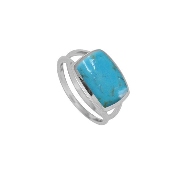 Rectangular Turquoise Ring Darrah Cooper, Inc. Lake Placid, NY