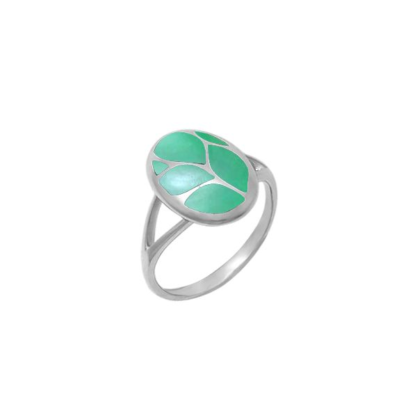 Green Mother of Pearl Ring Darrah Cooper, Inc. Lake Placid, NY