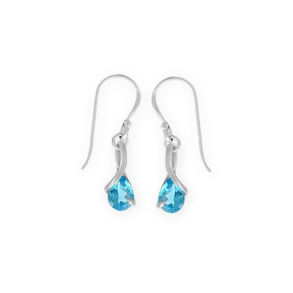 Blue Topaz  Twist Earrings Darrah Cooper, Inc. Lake Placid, NY