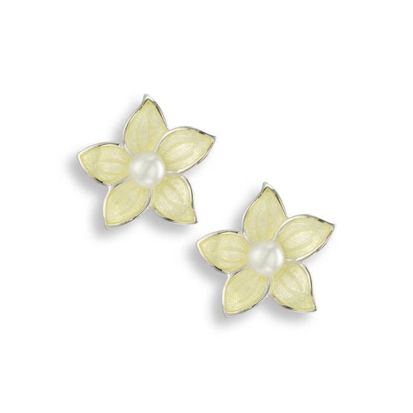 Enamel Stephonotis Earrings Darrah Cooper, Inc. Lake Placid, NY