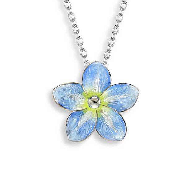 Enamel Forget Me Not Necklace Darrah Cooper, Inc. Lake Placid, NY