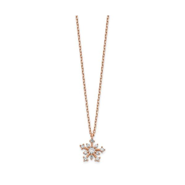 Cubic Zirconia Snowflake Necklace Darrah Cooper, Inc. Lake Placid, NY