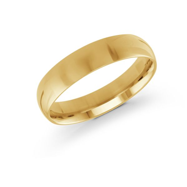 14k Yellow Gold Mens Wedding Band Diamonds Direct St. Petersburg, FL