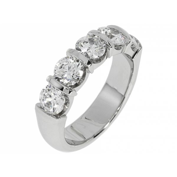 Lulini 14KW 1ct Wedding Band Diamonds Direct St. Petersburg, FL