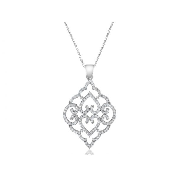 Diamond Antique Style Pendant DJ's Jewelry Woodland, CA