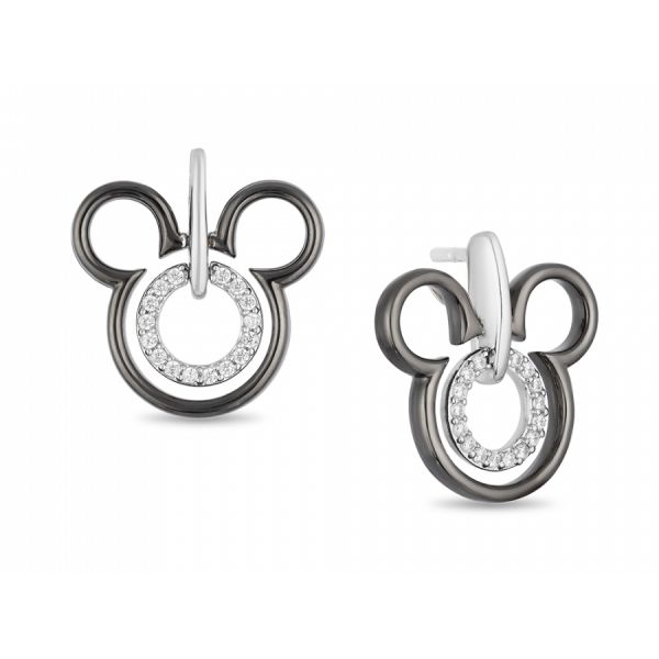 Minnie Mouse Diamond Accented Silver Earrings DJ's Jewelry Woodland, CA