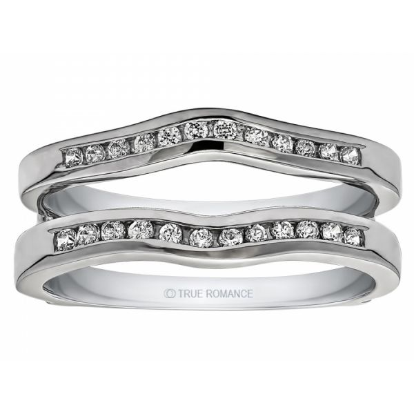 14kt White Gold Diamond Ring Guard Don's Jewelry & Design Washington, IA