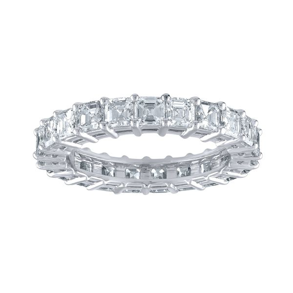 Asscher Cut Eternity Band Forever Diamonds New York, NY