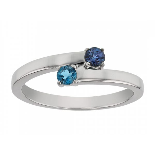 Mother's Two Stone Bypass Ring