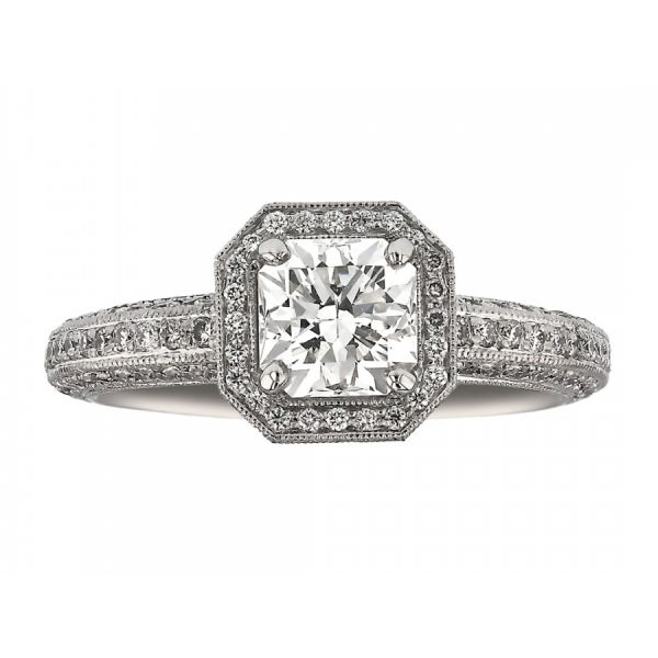 Flanders Halo Peekaboo Diamond Ring