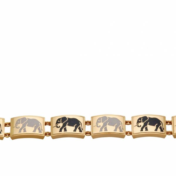 custom-elephant-enamel-bracelet-in-yellow-gold-open
