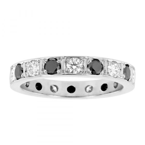 BAND103-Black-and-white-diamond-band
