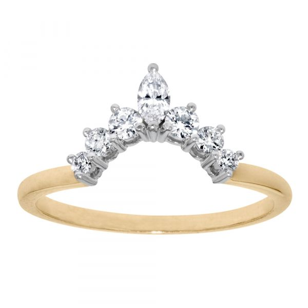 BAND104-Wedding-band-with-marquise-half-halo