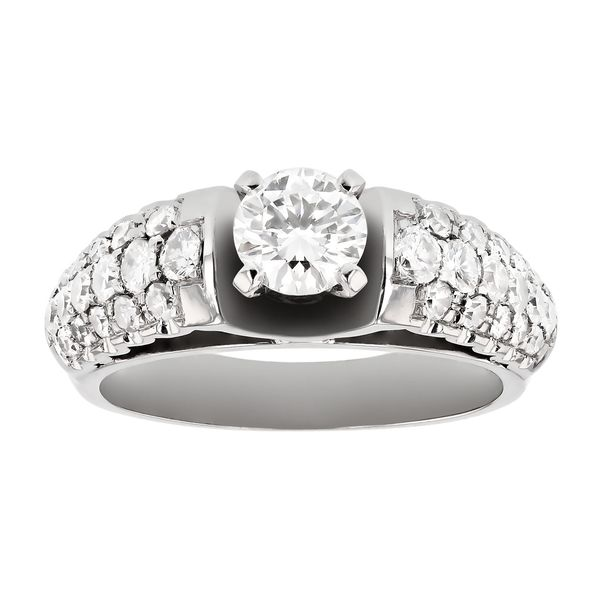 Pavé engagement ring