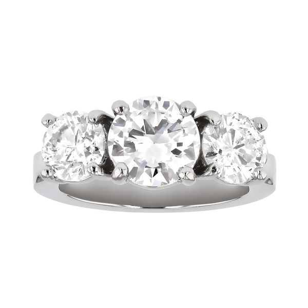 Timeless three-stone engagement ring