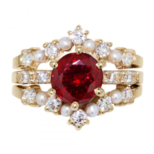 DER119-Ruby-engagement-ring-with-seed-pearl-bands
