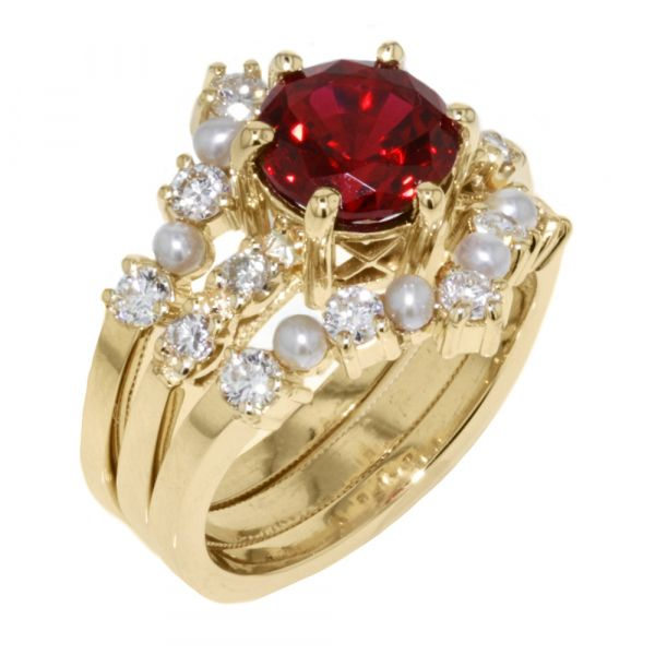 DER119-Ruby-engagement-ring-with-seed-pearl-bands2