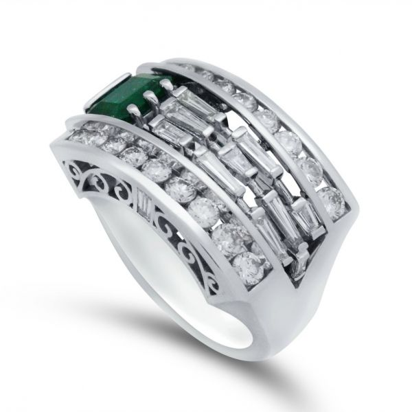 ladies-custom-emerald-baguette-diamond-wide-band-in-platinum-high-angle