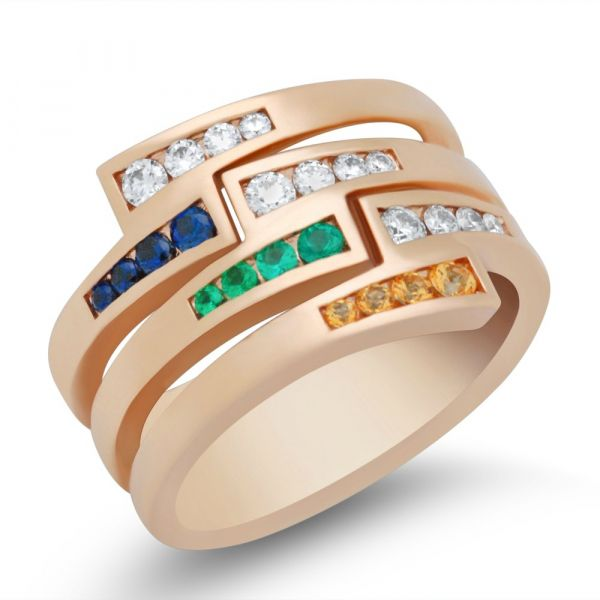 ladies-custom-mothers-ring-stackable-with-sapphire-and-emerald-rose-gold