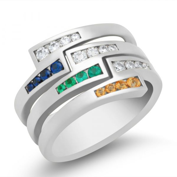 ladies-custom-mothers-ring-stackable-with-sapphire-and-emerald-white-gold