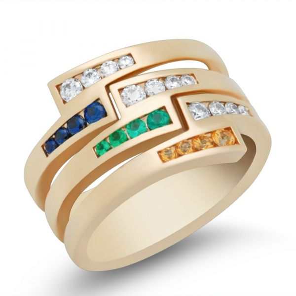 ladies-custom-mothers-ring-stackable-with-sapphire-and-emerald-yellow-gold