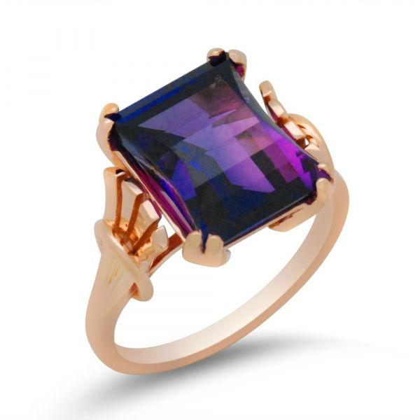 Antique-amethyst-redesign-in-rose-gold