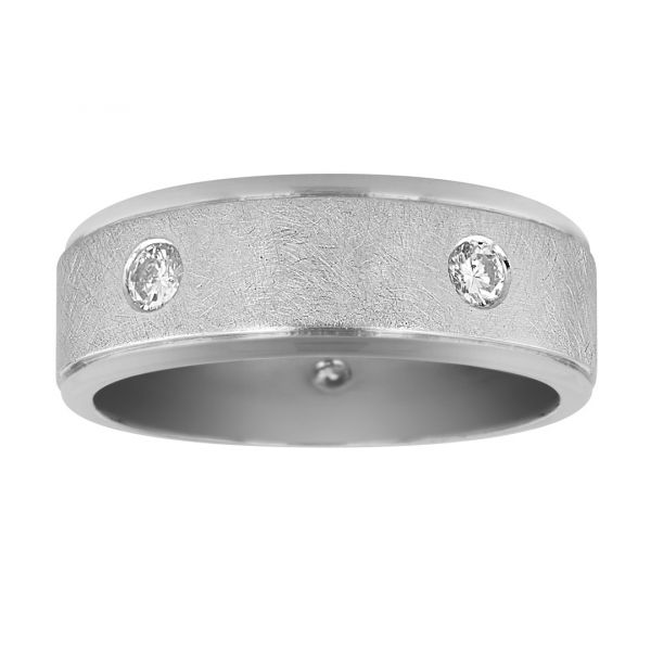 GR103-Wire-brushed-band-with-flush-diamonds