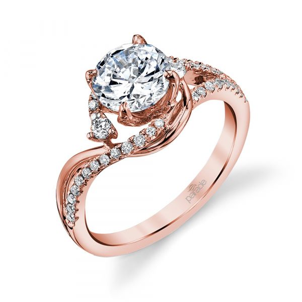 Bypass Swirl Engagement Ring Image 3 Fox Fine Jewelry Ventura, CA