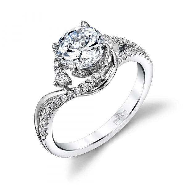 Bypass Swirl Engagement Ring Fox Fine Jewelry Ventura, CA