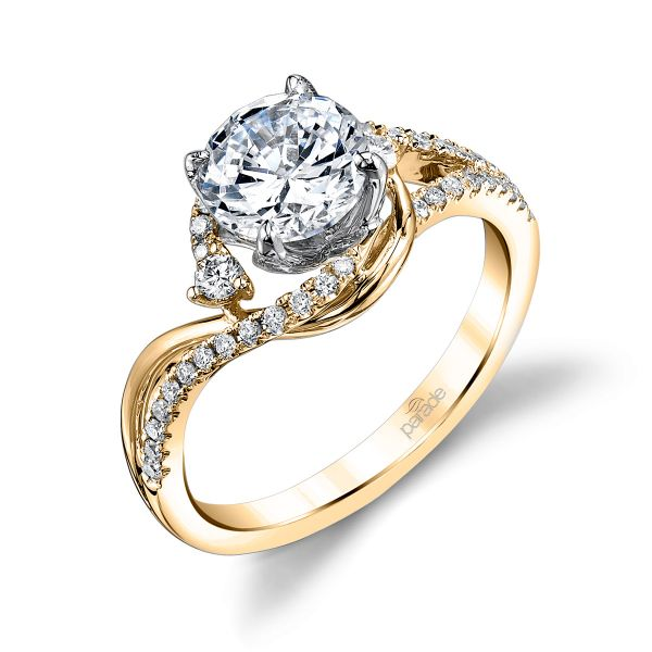 Bypass Swirl Engagement Ring Image 2 Fox Fine Jewelry Ventura, CA