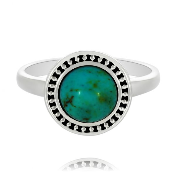 Onatah Round Turquoise Ring Georgies Fine Jewellery Narooma, New South Wales