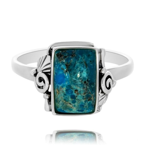 Onatah Rectangular turquoise Ring Georgies Fine Jewellery Narooma, New South Wales