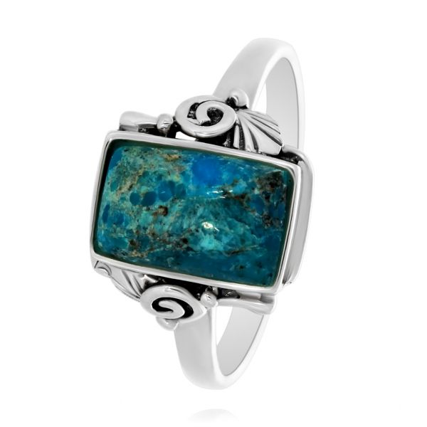 Onatah Rectangular turquoise Ring Image 2 Georgies Fine Jewellery Narooma, New South Wales
