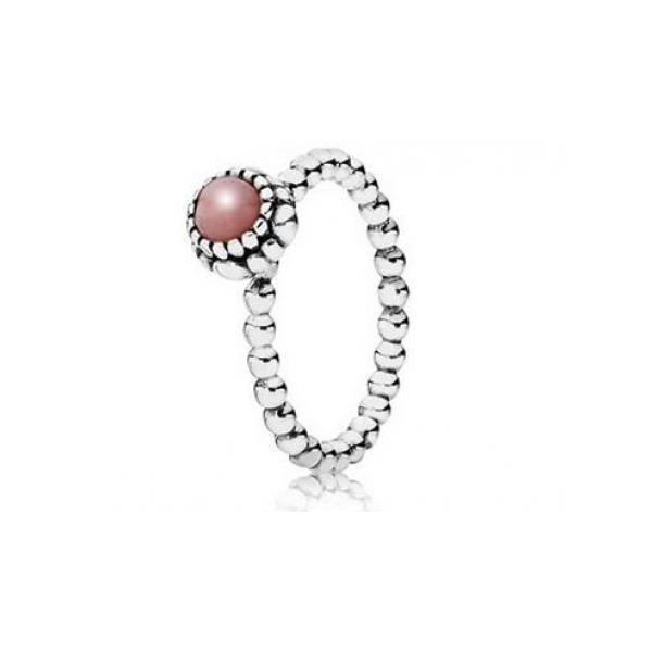 Pandora Pandora Pink Opal Birthstone Ring 190854pop Glatz