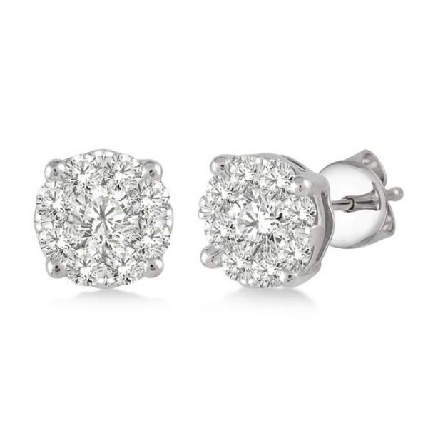 1/3rd ct tw Cluster Diamond Earrings Glatz Jewelry Aliquippa, PA