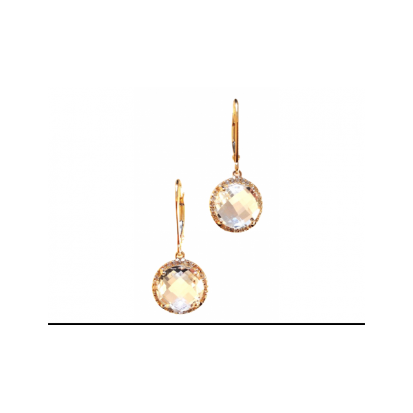 White Topaz Round Dangles The Diamond Center Claremont, CA
