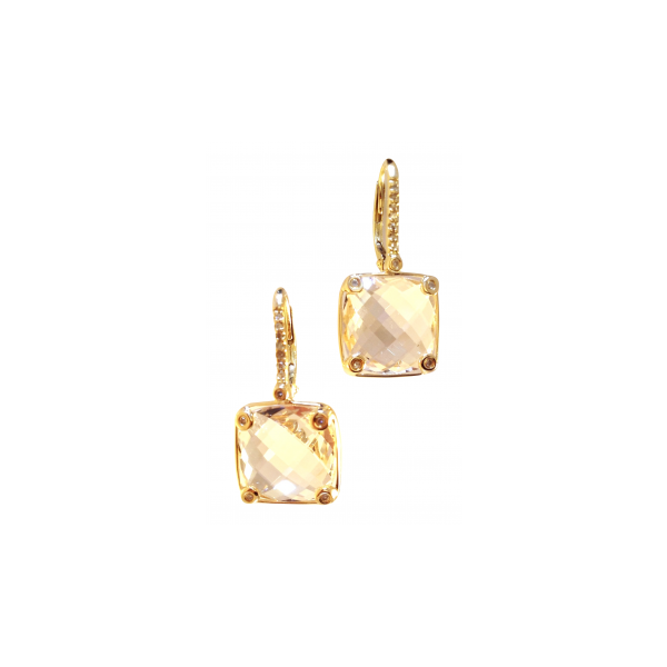 White Topaz Square Dangles The Diamond Center Claremont, CA