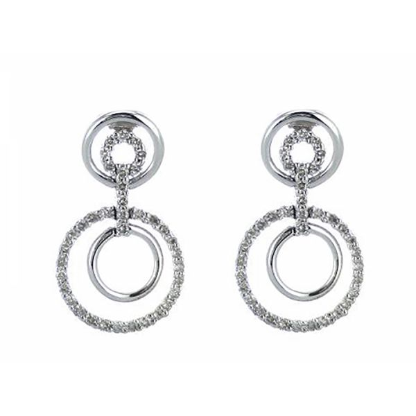 Diamond Snowflake Drop Earring Malak Jewelers Charlotte, NC