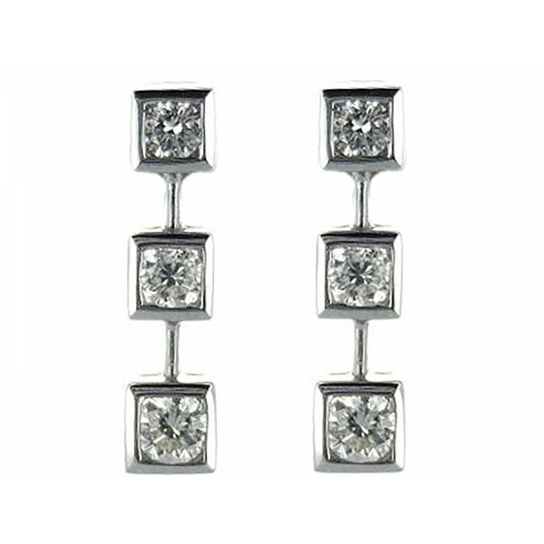 Diamond Drop Earring Malak Jewelers Charlotte, NC