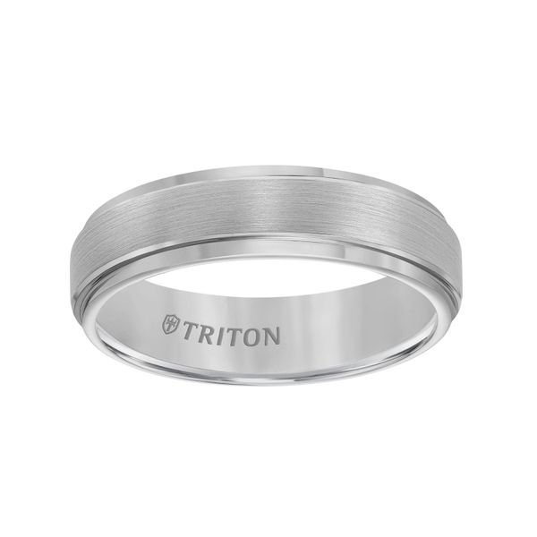 Men's Tungsten Carbide Wedding Band Image 2  ,